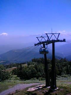 御岳ロープウェイからの眺め